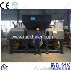 carton double shaft shreddering machine