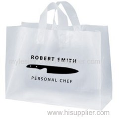 Saturn Frosted Shopping Bags W/ Foil Hot Stamp