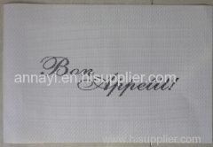 PVC coated mesh fabric cloth for Table mat in different colors and pring logo for you