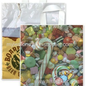 Promotional 15W X 18H Full Color Soft Loop Handle Bags