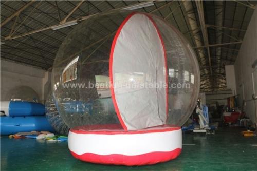 Christmas human inflatable snowing globes