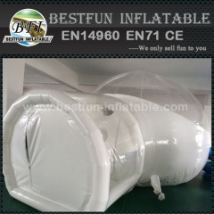 Clear inflatable bubble house tent with tunnel