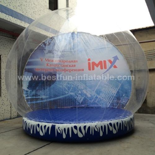 Inflatable Human Snow Globe with removable Backdrop