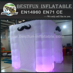 Attractive Portable Lighted Inflatable Cube Photo Booth
