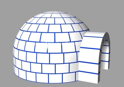White Christmas Igloo Inflatable Dome Tent