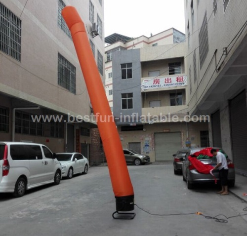 Inflatable air dancer with one leg air tube