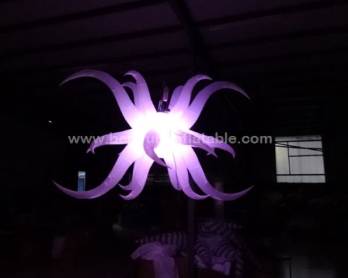 Lighting led inflatable fower party decorations with inflatable star