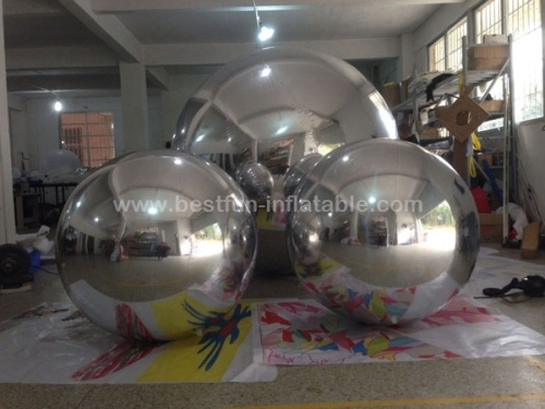 Durable PVC Wedding Stage Christmas Decoration Large Inflatable Mirror Ball
