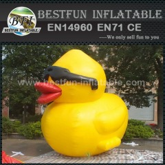 Giant promotion yellow inflatable duck for display