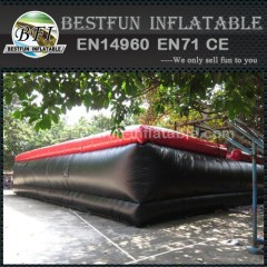 Inflatable stunt air bags for adventure and sports