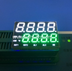 Custom Design Ultra white and Pure Green 8 Digits seven segment led display for temperature indicator