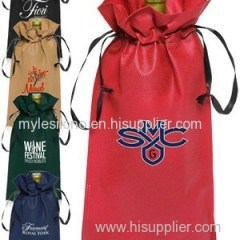 Vineyard Ribbon Drawstring Bags