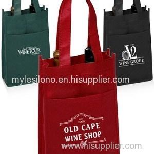 Vineyard Two Bottle Custom Wine Bags