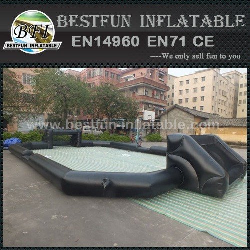 Tall wall soccerinflatable football pitch