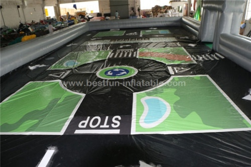 Giant inflatable traffic track for go karts inflatable race track playground