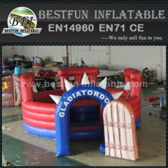 Gladiators style pedestal inflatable joust with stick