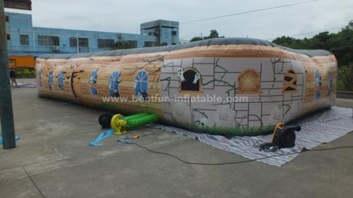 Inflatable maze haunted haunted inflatable maze house