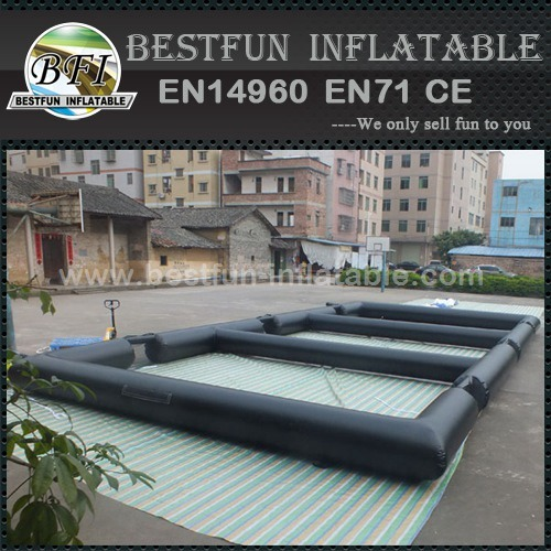 Triple inflatable soccer field
