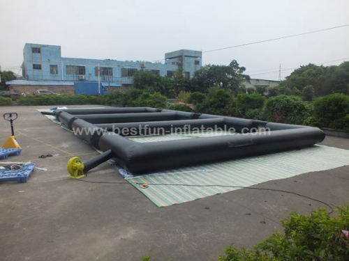 Inflatable Triple Football Sports Games Inflatable Shooting Sports Games