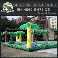 Used commercial inflatable karting race track