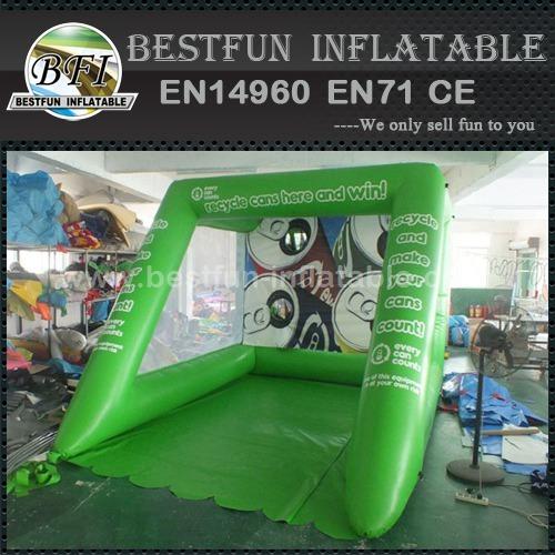 PVC plato Inflatable football goal shooting game