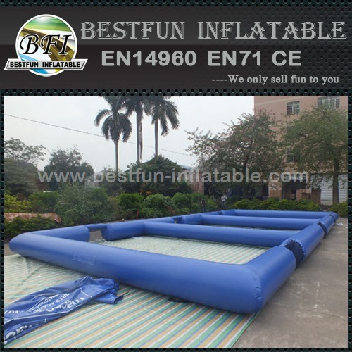 Portable inflatable soccer field