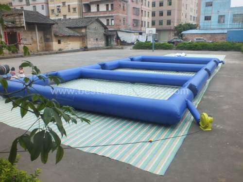 Triple inflatable panna soccer field portable inflatable soccer field