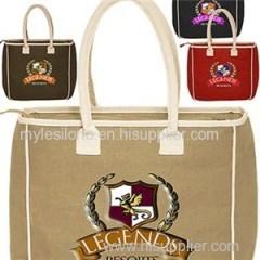 Two-Tone Jute Tote Bags