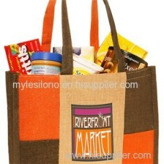 Checkered Personalized Jute Tote Bags