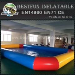 Inflatable pool for amusement park