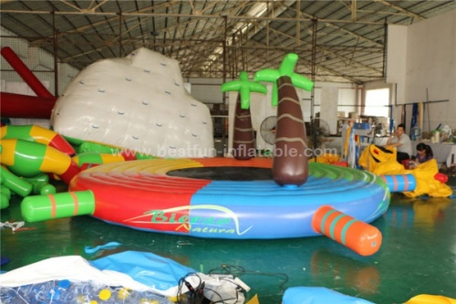 Water floating island inflatable water floating bed