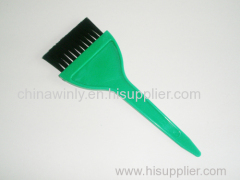 グリーン色の色合いプロのヘアブラシ