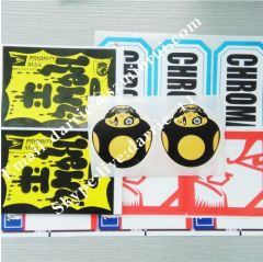 China Top factory of destructible label paper Wholesale customized destructible vinyl Eggshell sticker for graffiti
