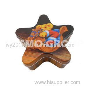 Star Shaped Tin Packaging Box