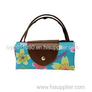 Flower Printed Nylon Shopping Bags