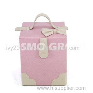 Square Pink Cosmetic Bags