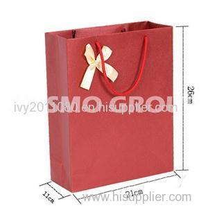 Red Paper Shopping Bags