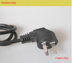 Copper plug power cord