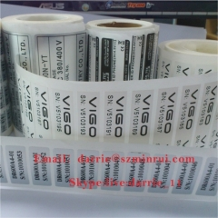 Best price with high quality destructible Eggshell vinyl roll for tamper evident security warranty screw vinyl sticker