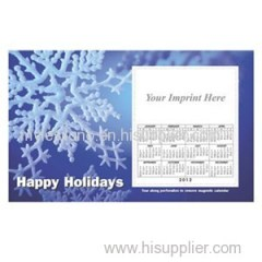 Personalized Snowflake 8.5inch X 5.25inch Magnets