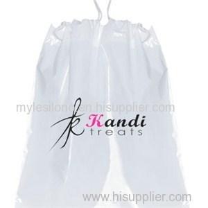 12 X 16 X 4 Plastic Drawstring Bags W/ Cotton Draw