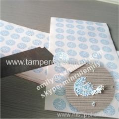 Round Warranty Paper Sticker Open Warranty VOID Sticker