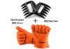 DIY Bear BBQ meat Claws set of 2 Plus heat Resistant BBQ silicon glove