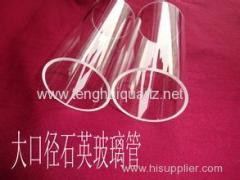 High temperature large caliber quartz glass tube