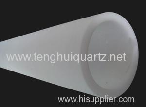 High temperature resistant transparent quartz glass tube