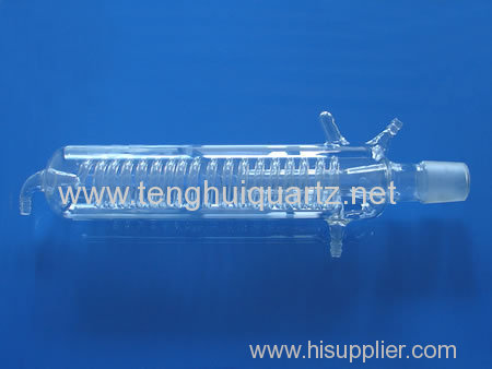 High temperature quartz serpentine condenser tube