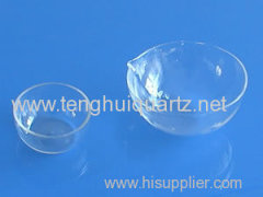 High temperature quartz round bottom pan