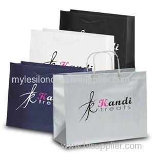 Rome Matte Eurotote Foil Hot Stamp Promo Shopping Bags