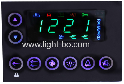 Custom super green 4 digit 7 segment led display for multifunction digital oven timer control system