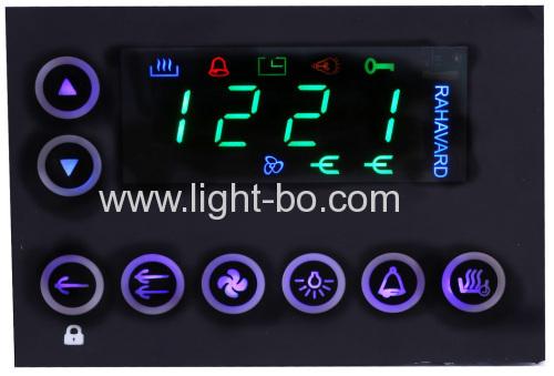 Benutzerdefinierte Super grün 4-stellige 7-Segment-LED-Anzeige für digitalen Multifunktions-Ofen-Timer-Steuersystem